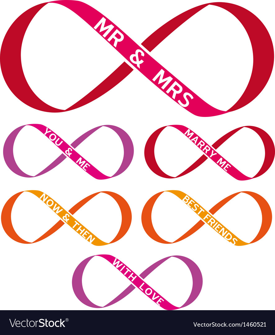 Infinity sign set vector