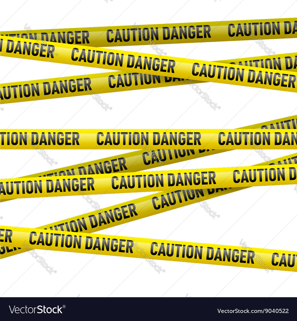 Caution and danger yellow tape vector