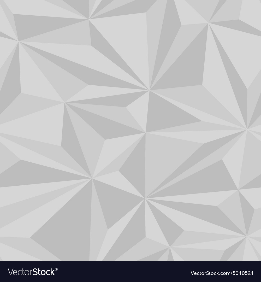 Geometric seamless triangle 3d pattern vector