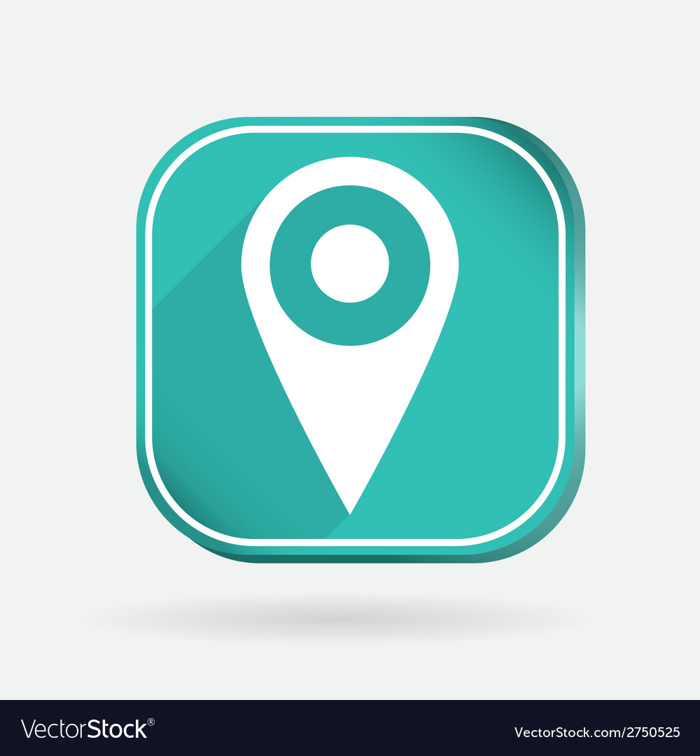 Square icon pin location on the map vector