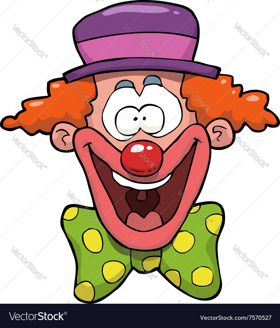 Clown head vector