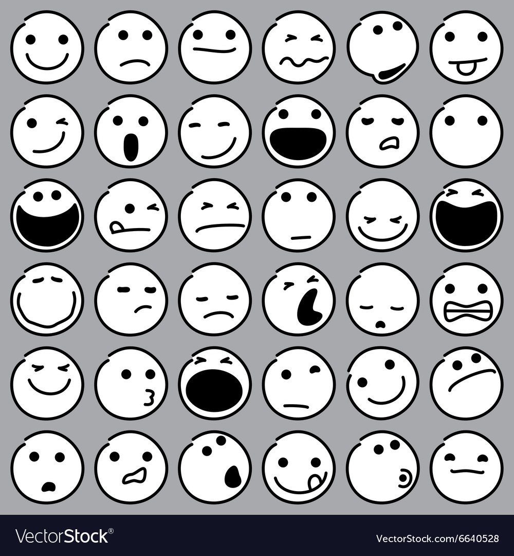 Caricature emoticons vector