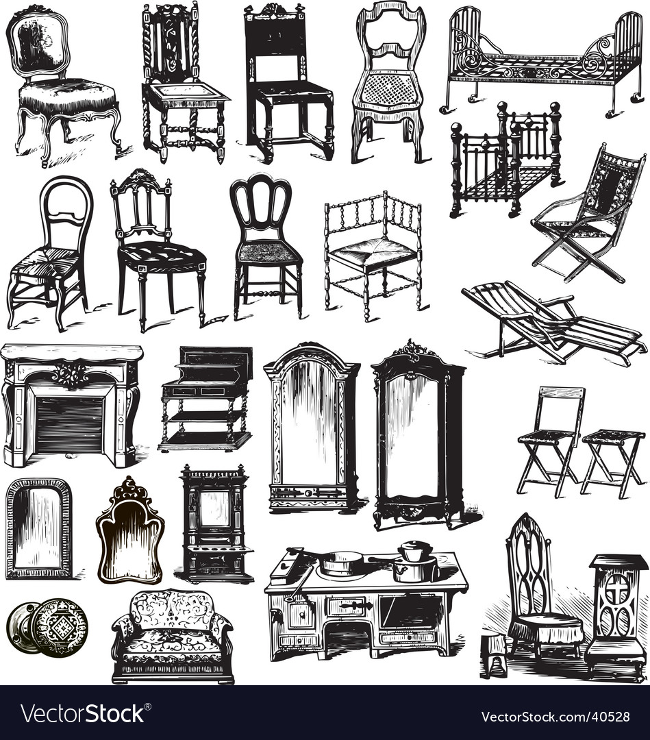 Old furniture vector