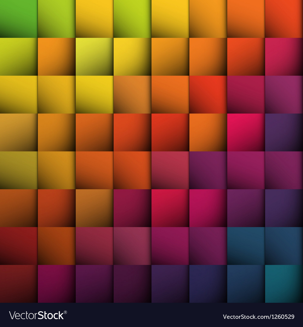 Abstract colorful squares background vector