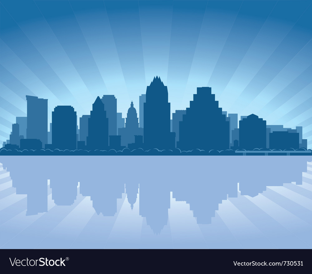 Austin texas skyline vector