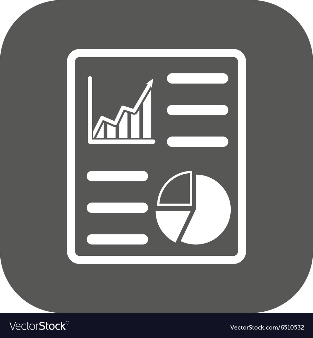Business report icon audit and analysis vector