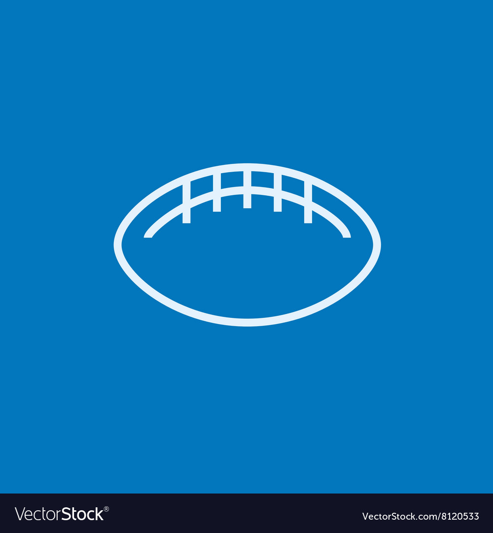 Rugby football ball line icon vector