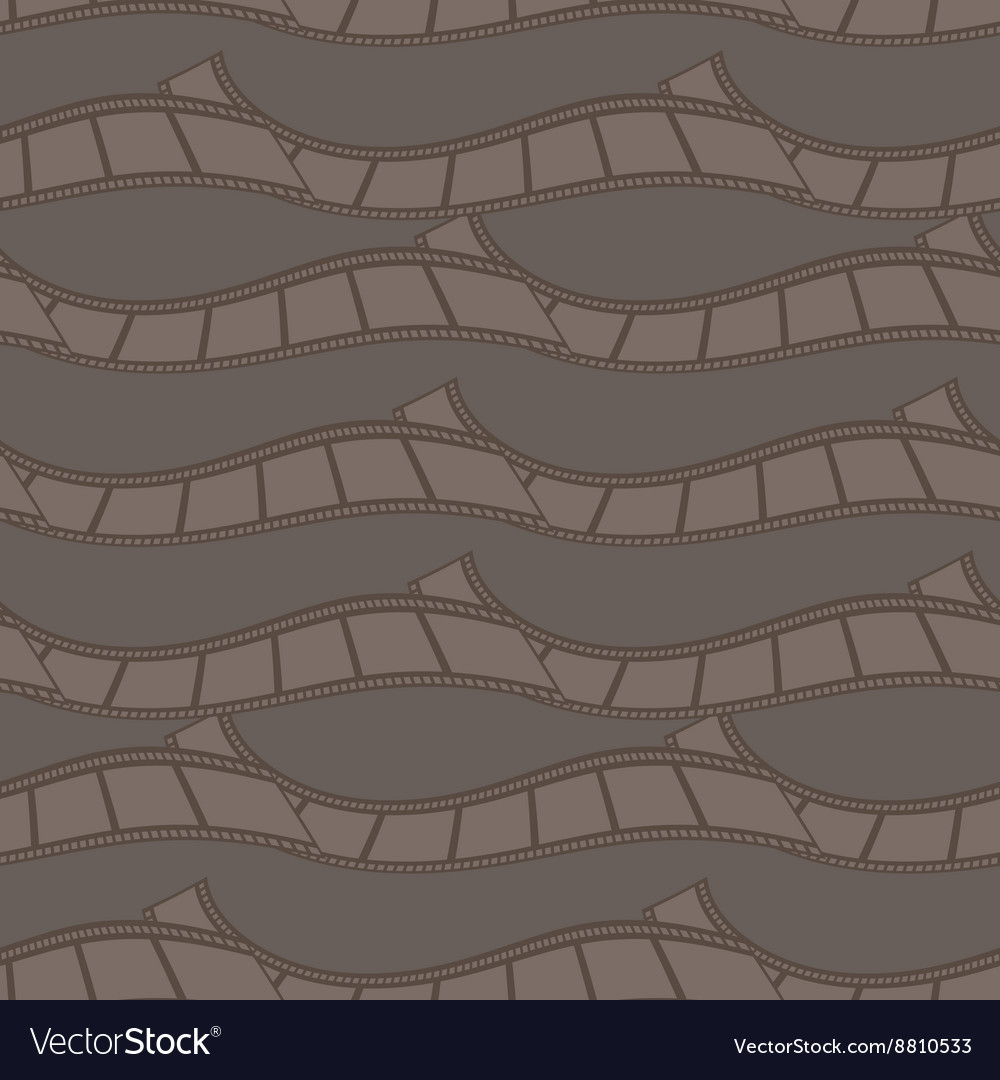 Seamless pattern of abstract film strips vector