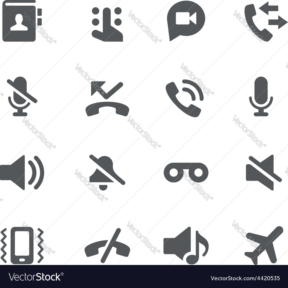 Phone calls icons  apps interface vector