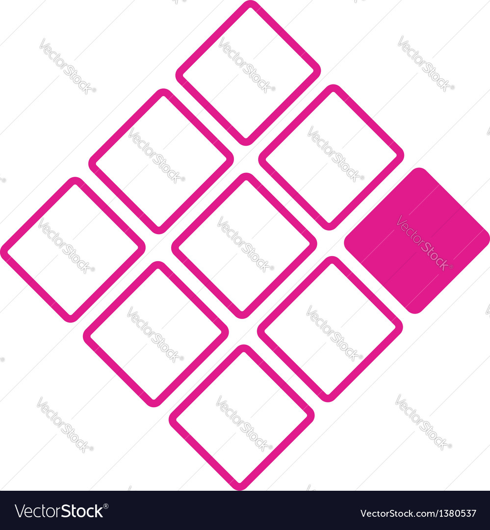 Nine squares business logo concept vector