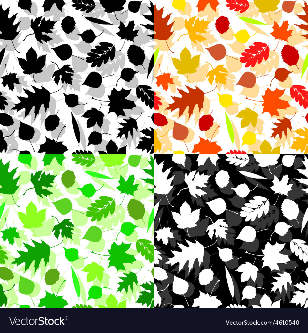 Texture of leaves vector