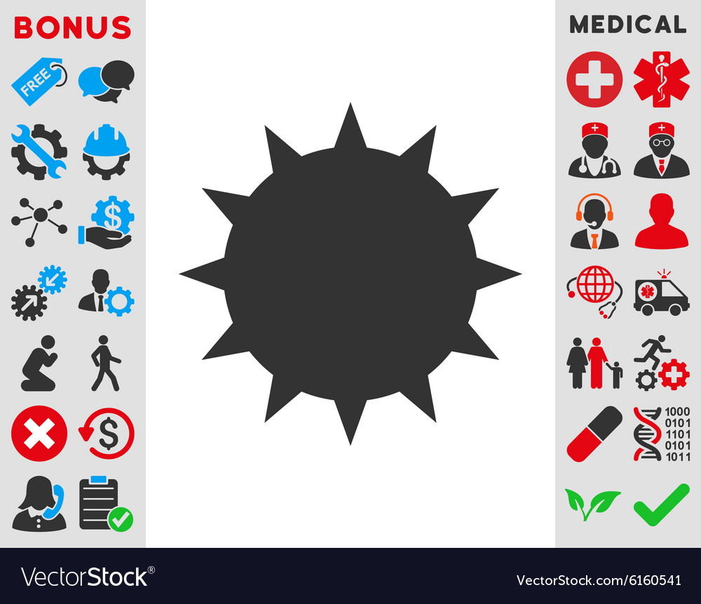 Bacterium icon vector