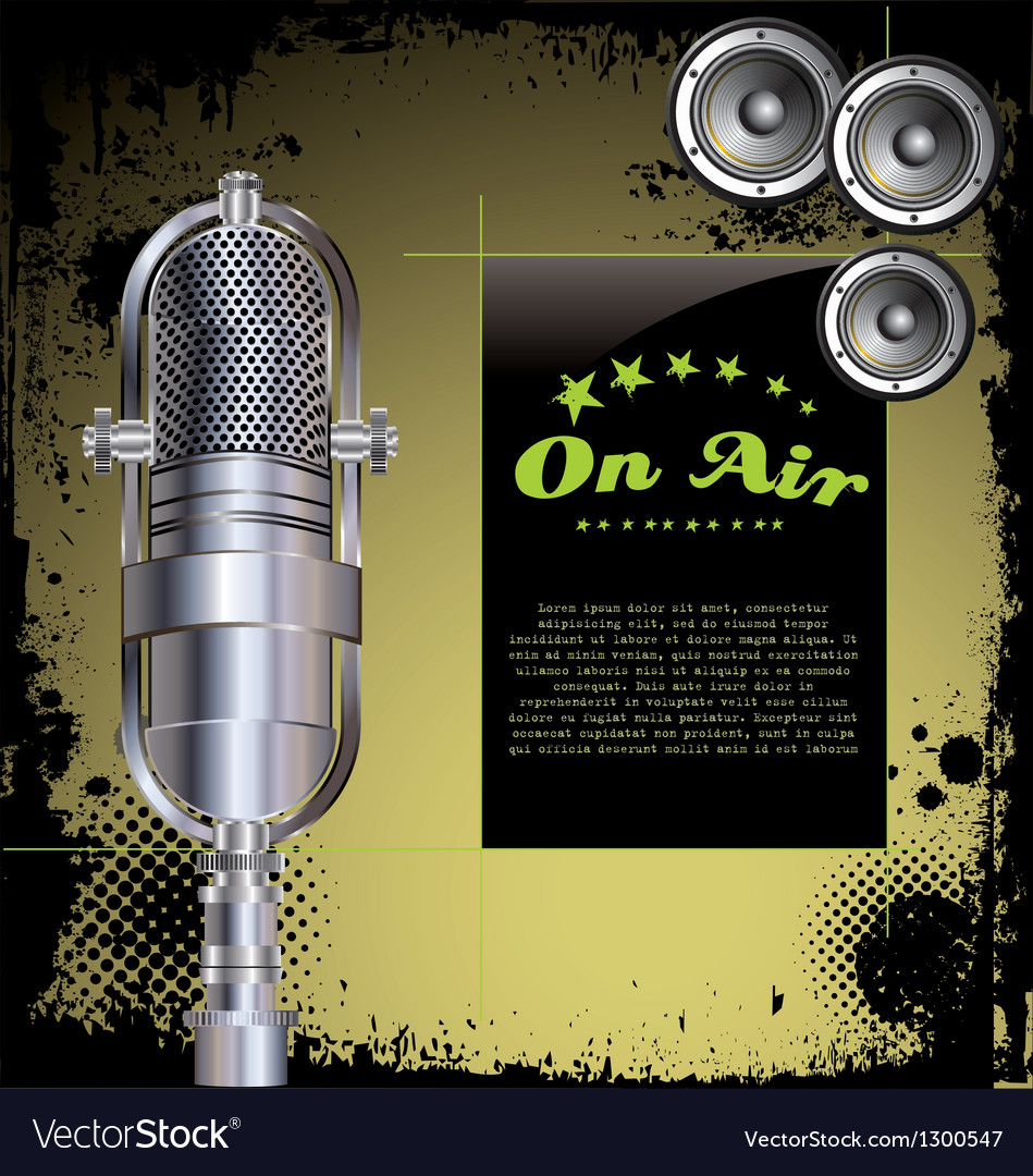 Local radio station grunge background vector