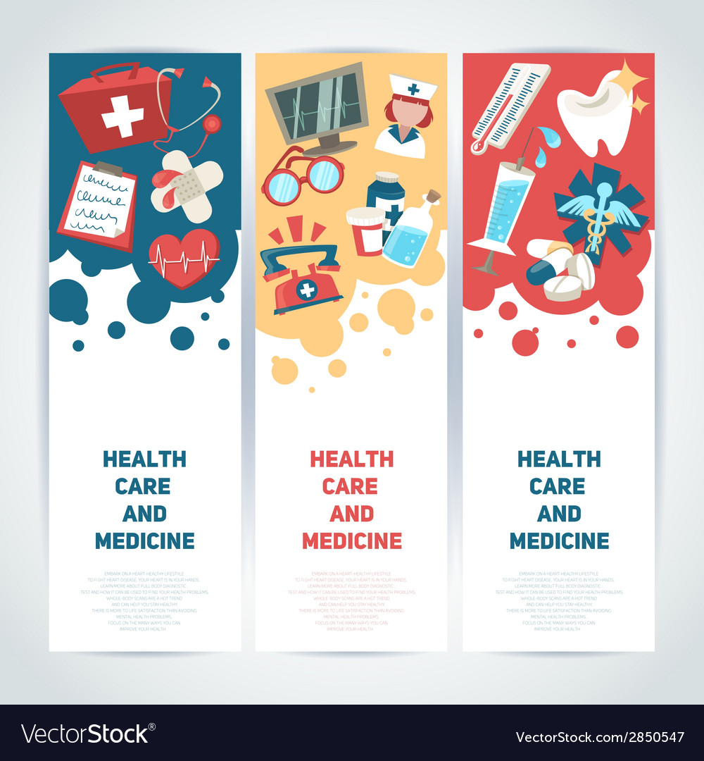 Medical vertical banners vector