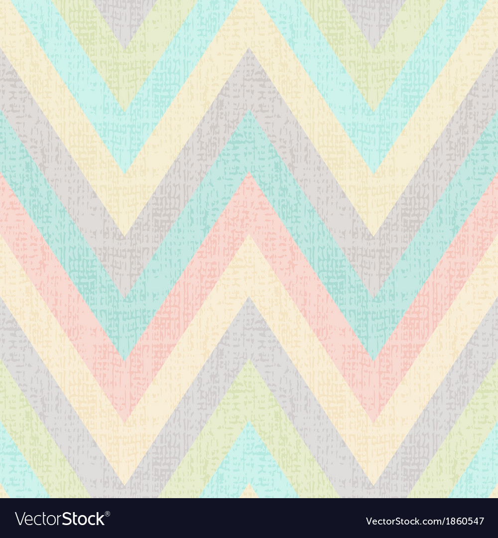 Seamless pastel multi colors chevron pattern vector