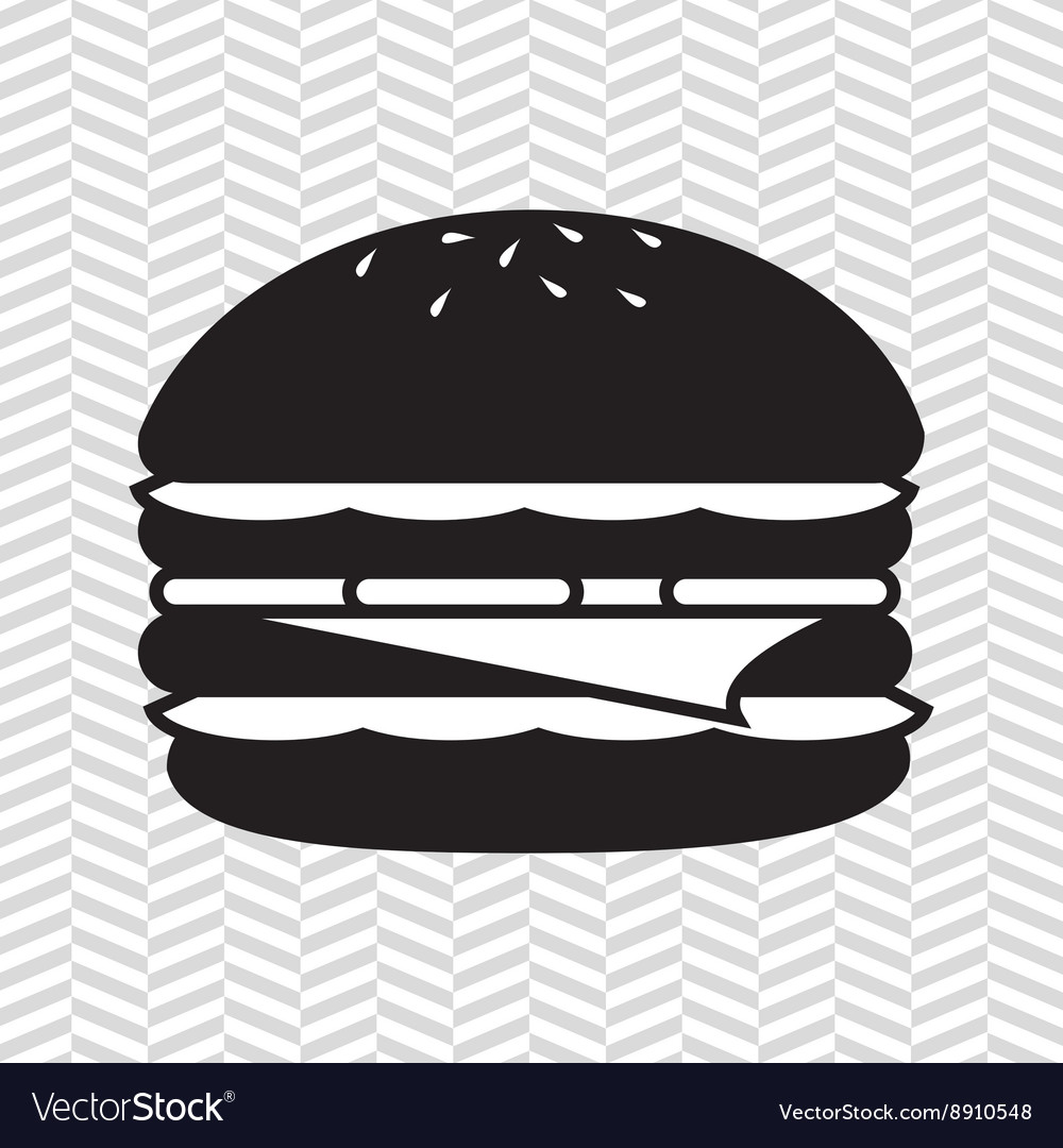 Delicious burger design vector