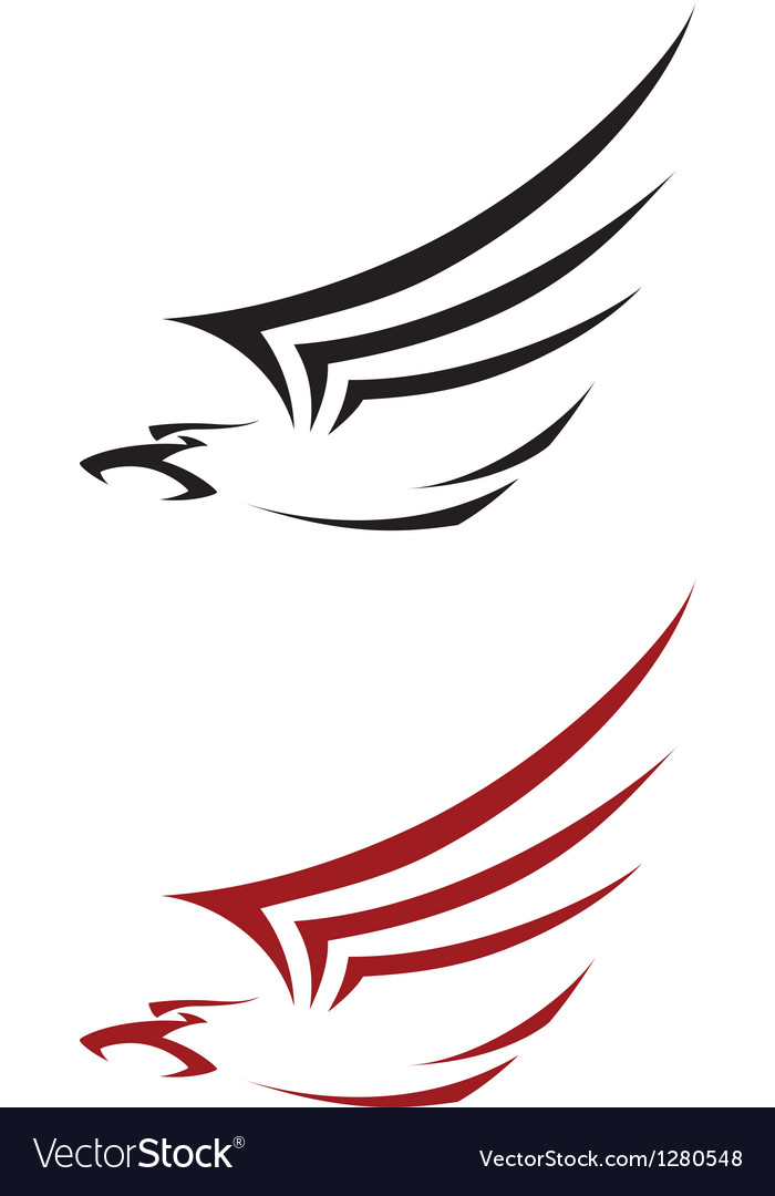 Tattoo hawk vector