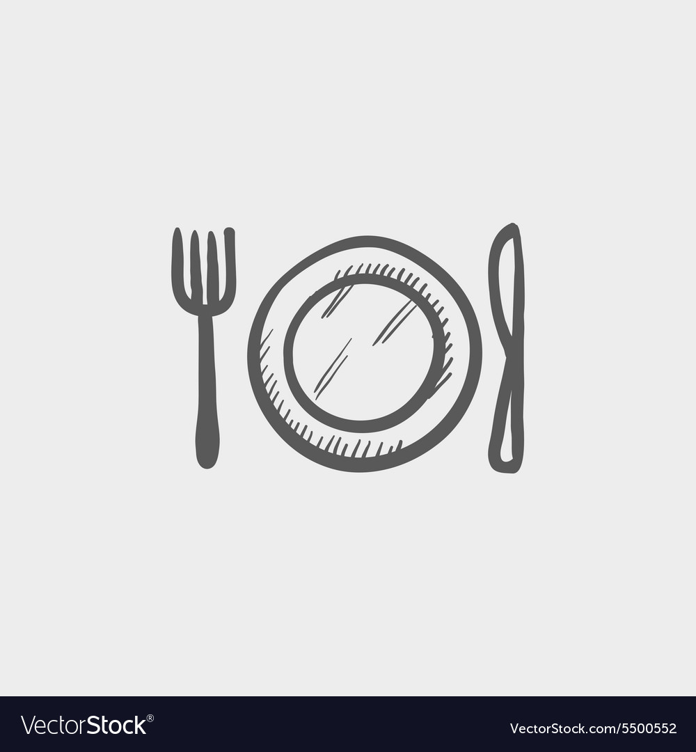 Kitchen utensil sketchicon vector