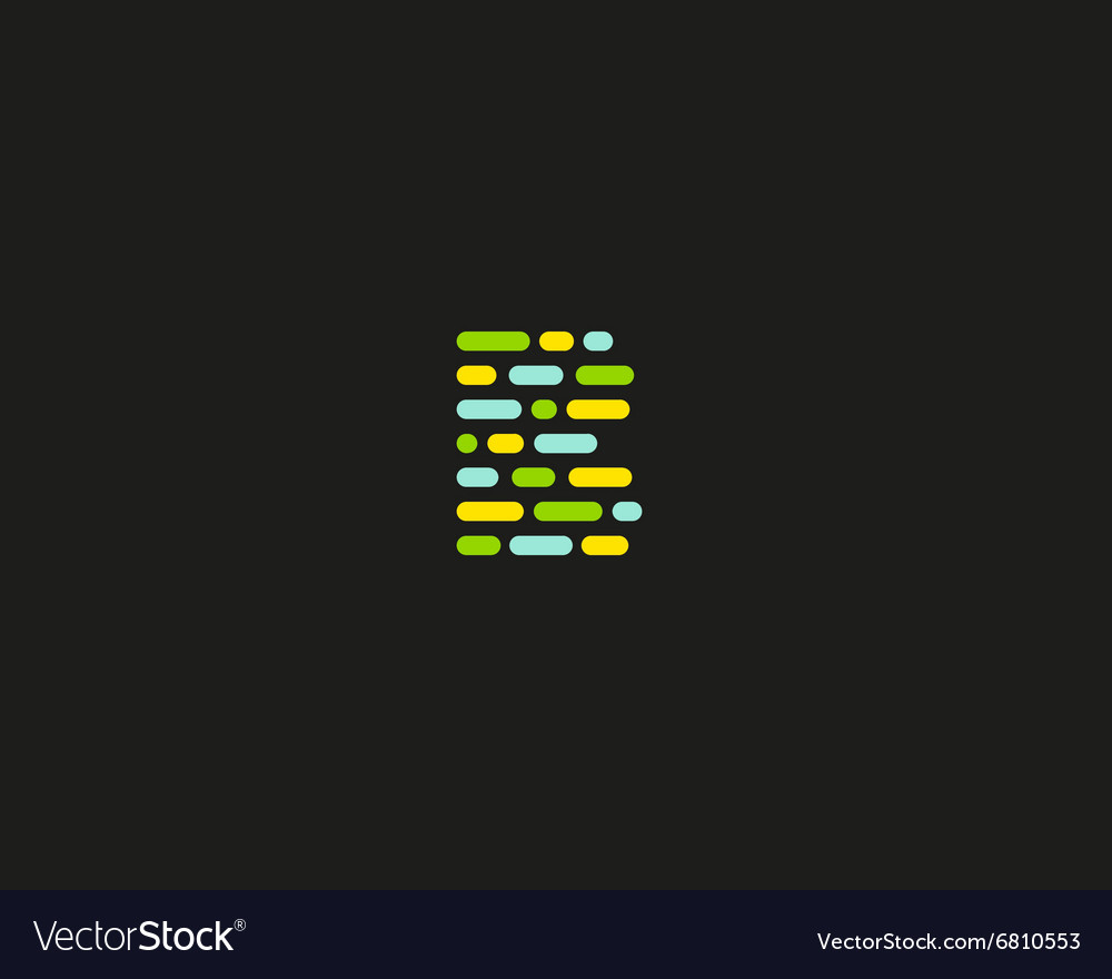 Abstract letter b logo dynamic code vector