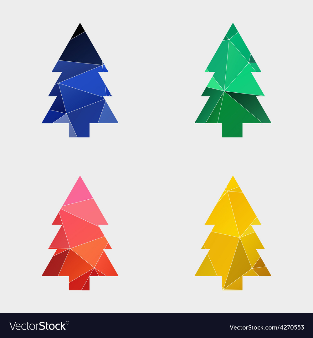 Firtree icon abstract triangle vector