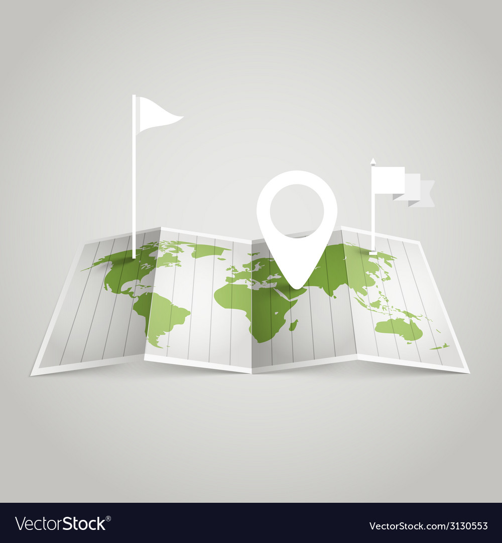 World map with different marks vector