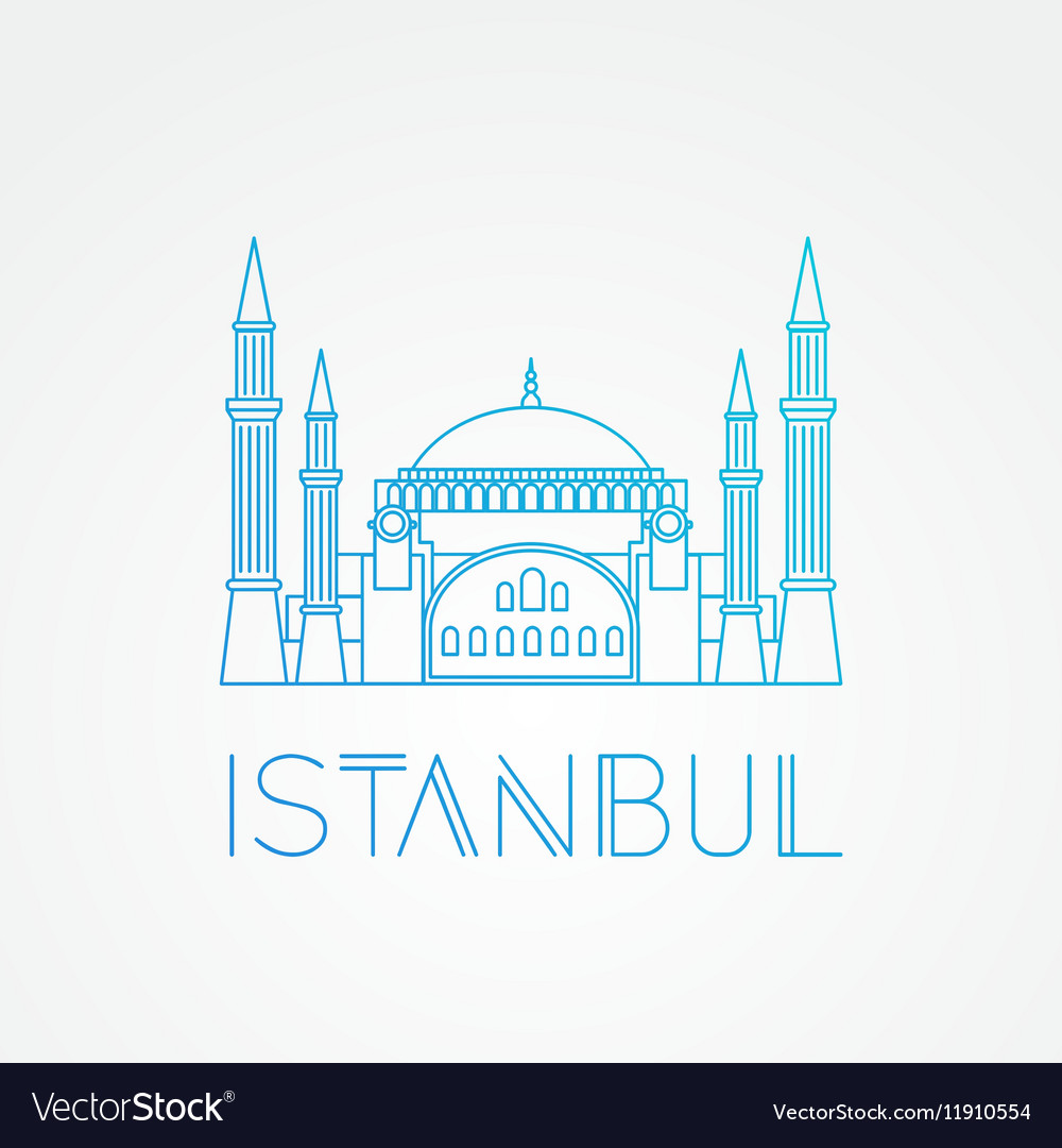 Hagia sophia  the symbol of turkey istanbul vector