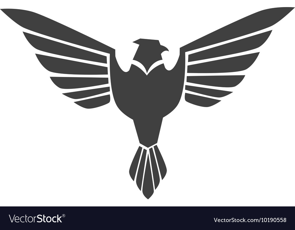 Eagle wing open stripes symbol icon graphic vector