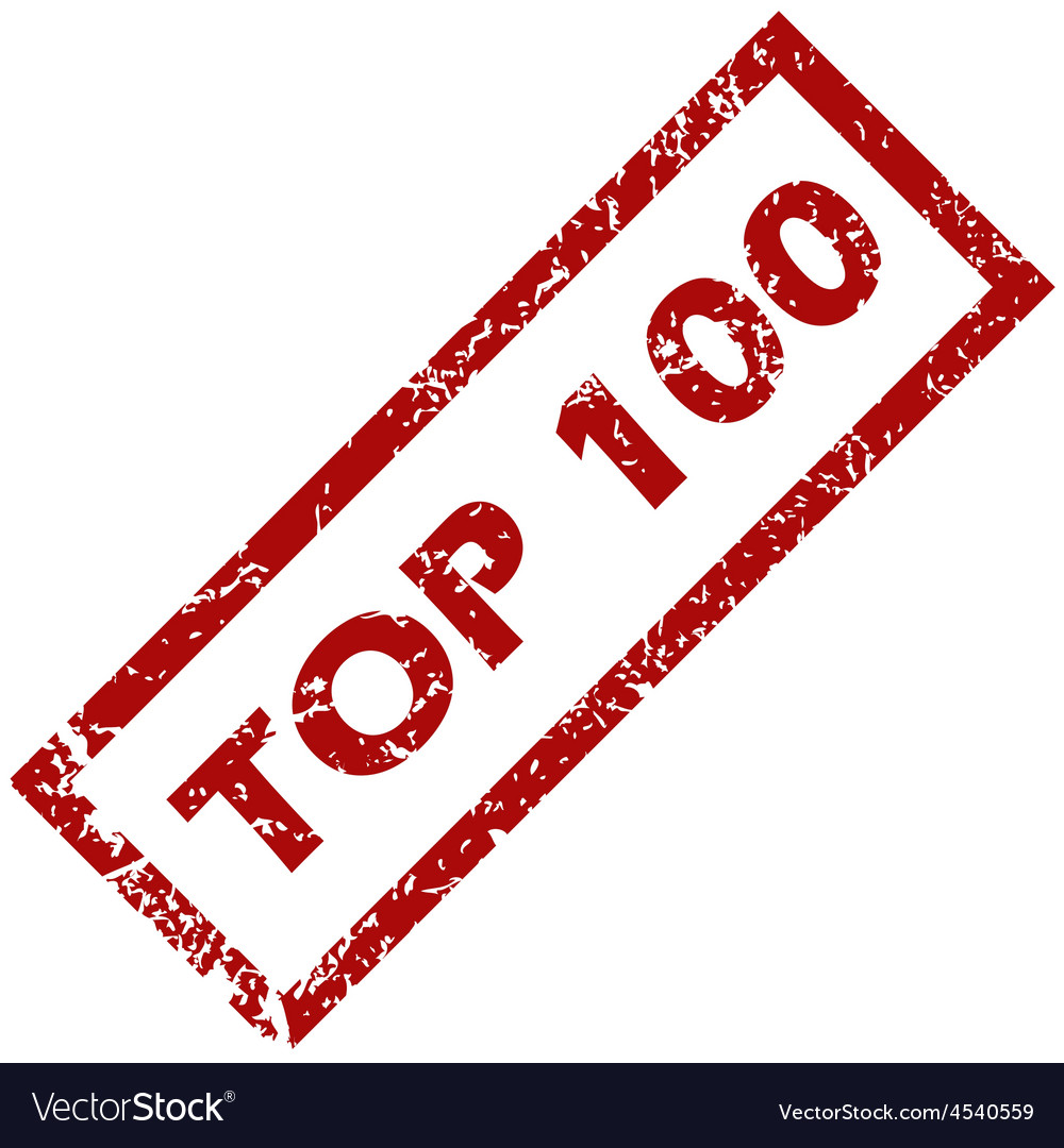 Stamp top 100 vector