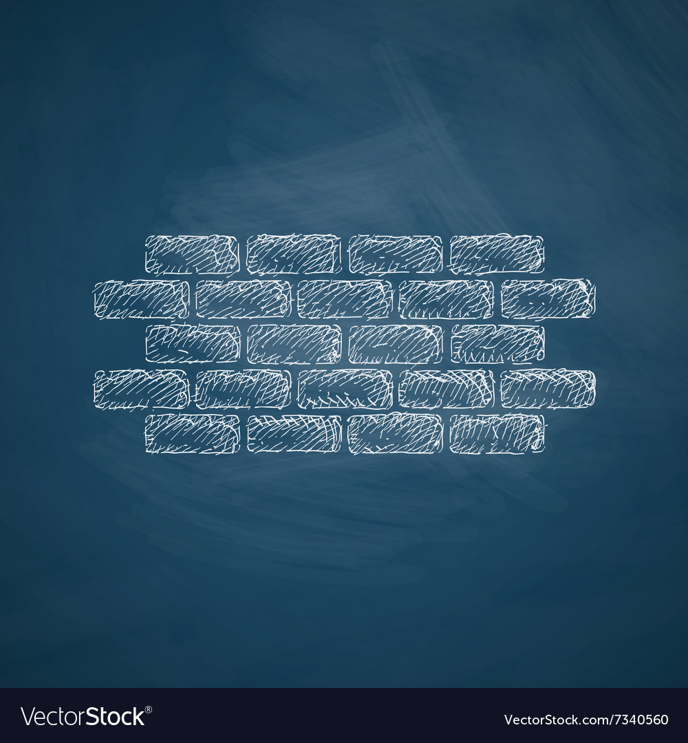 Brick icon vector