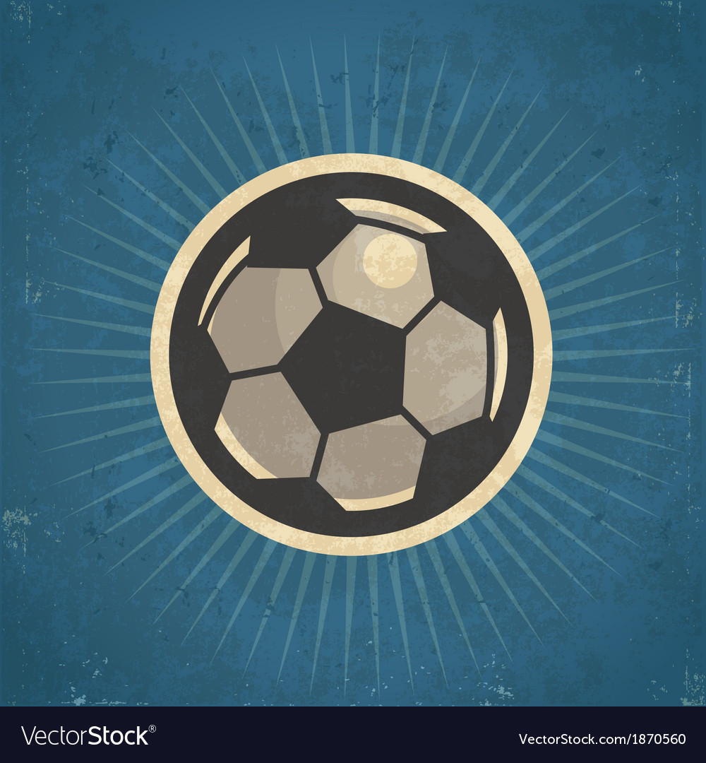 Retro soccer ball vector