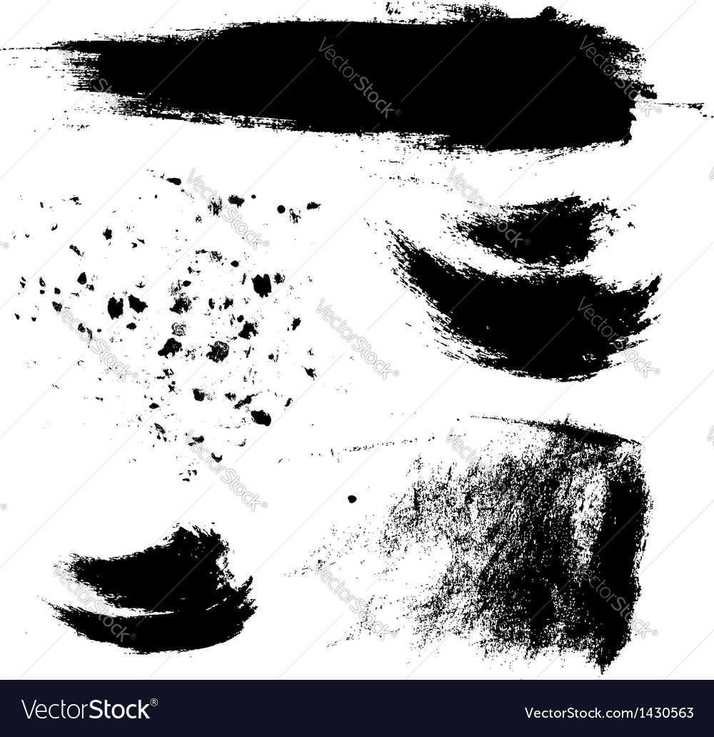 Abstract brush strokes and splashes of paint vector