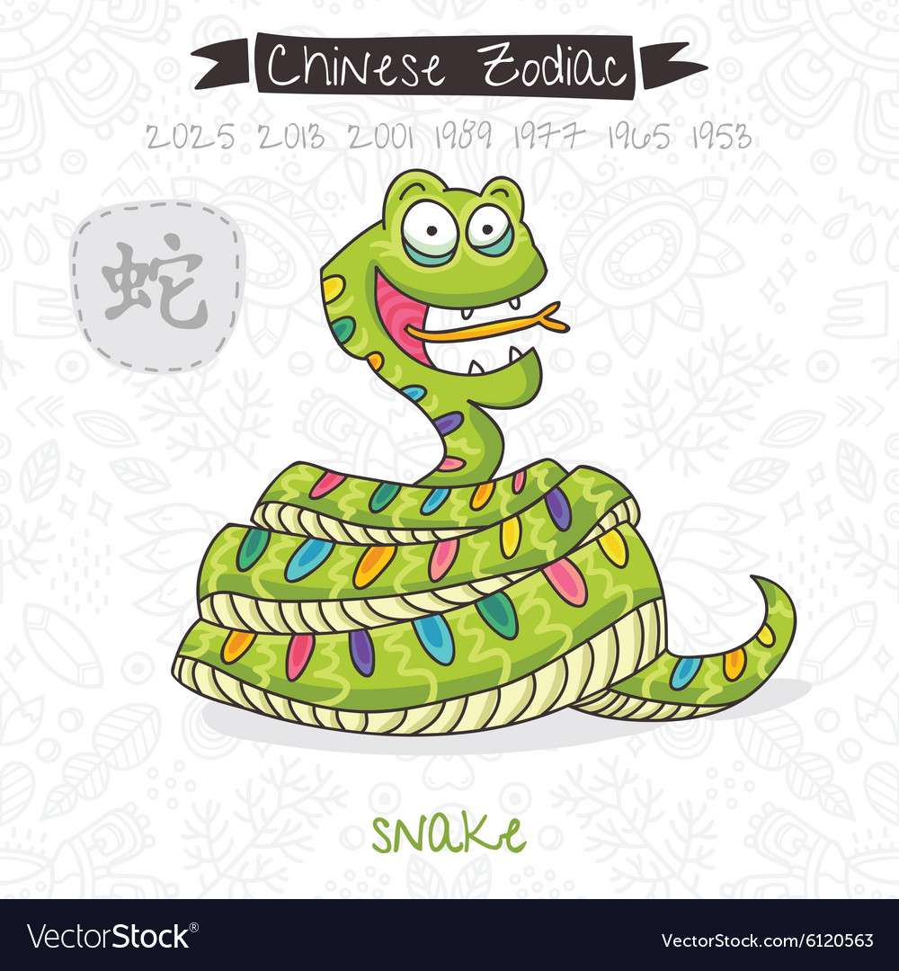 Chinese zodiac sign snake vector