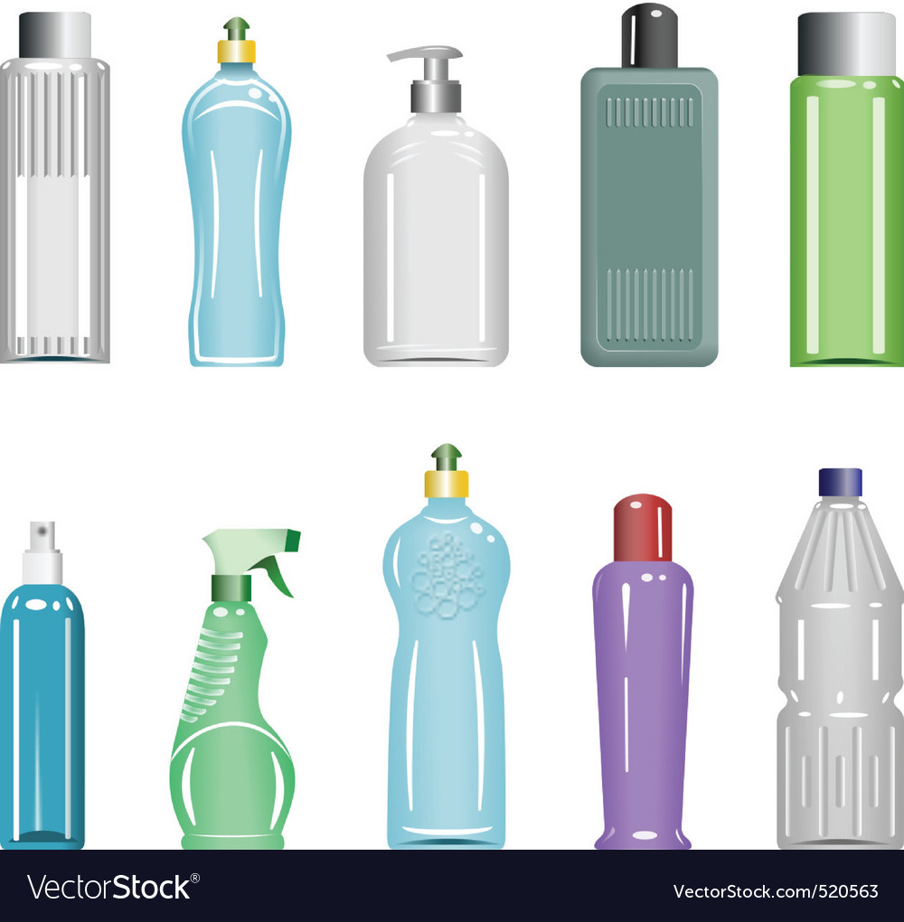 Plastic bottles set 5 vector