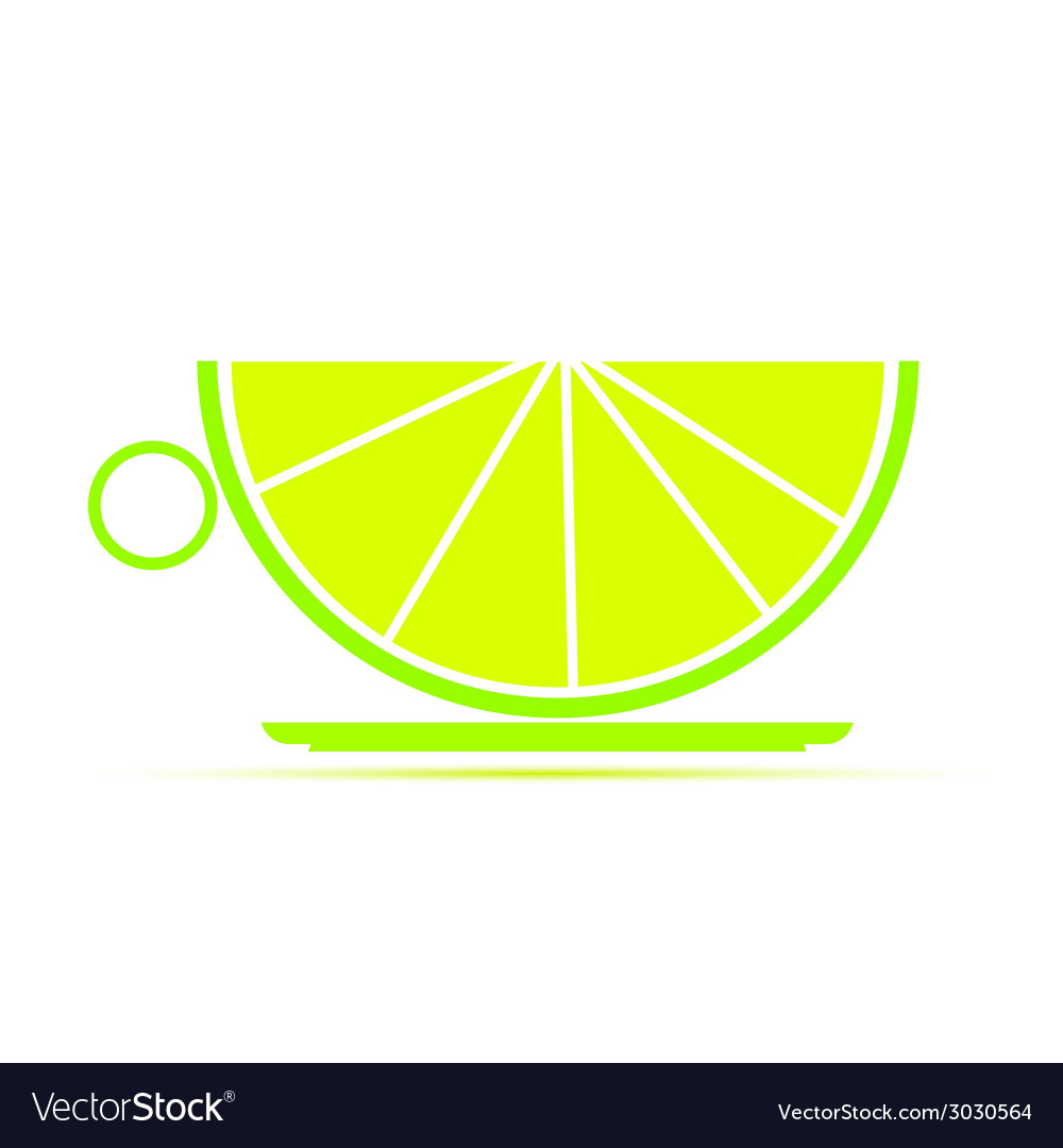 A cup of lime vector