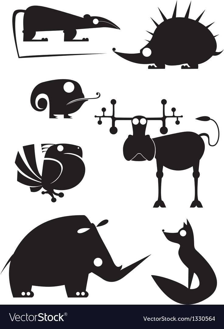 Silhouettes collection vector
