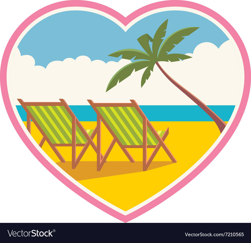 A beach vacation for lovers vector