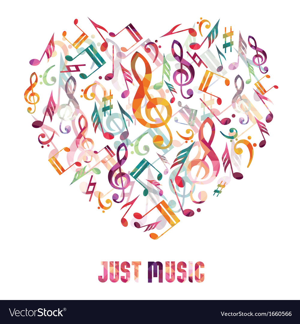 Music heart vector