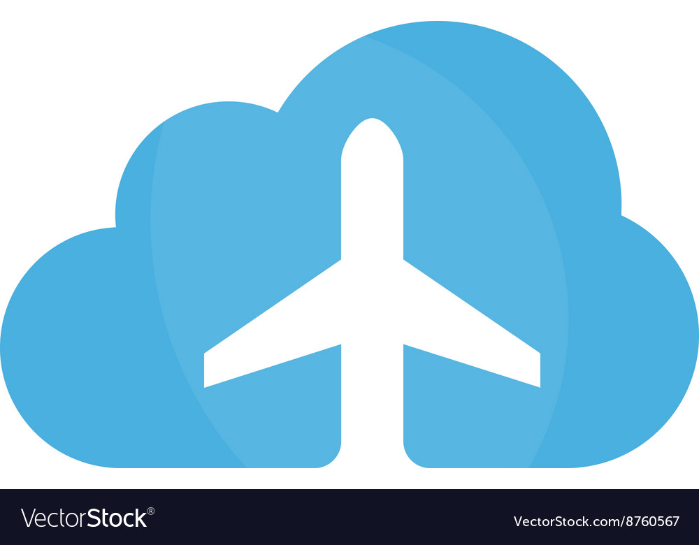 Airplane and cloud logo design template vector