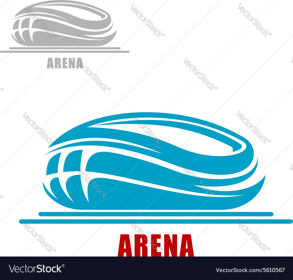 Sports arena or stadium icon vector