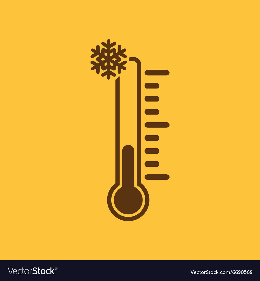 Thermometer icon low temperature symbol vector