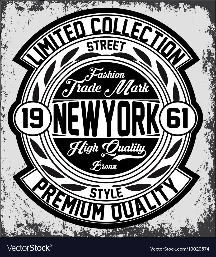 Vintage new york typography tshirt graphics vector