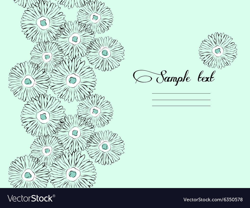 Mint floral seamless background vector