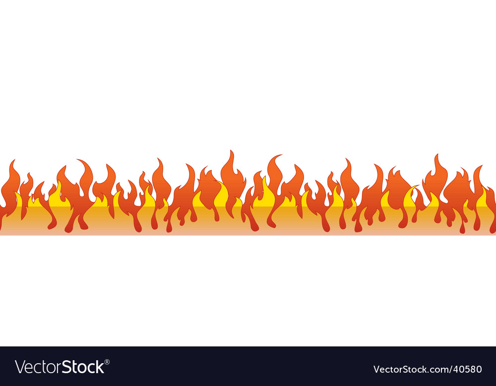 Flame border vector