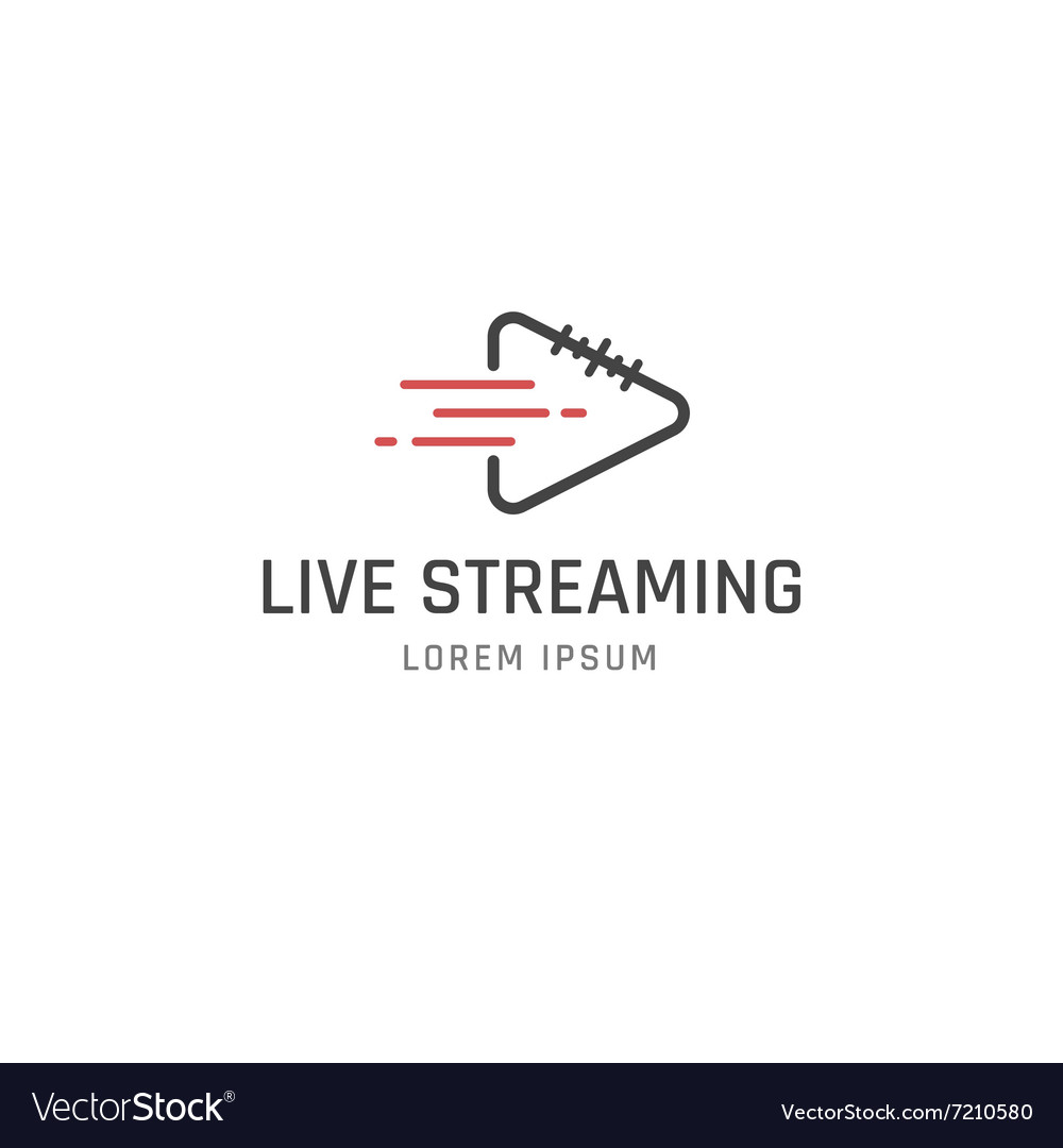 Live streaming sign vector
