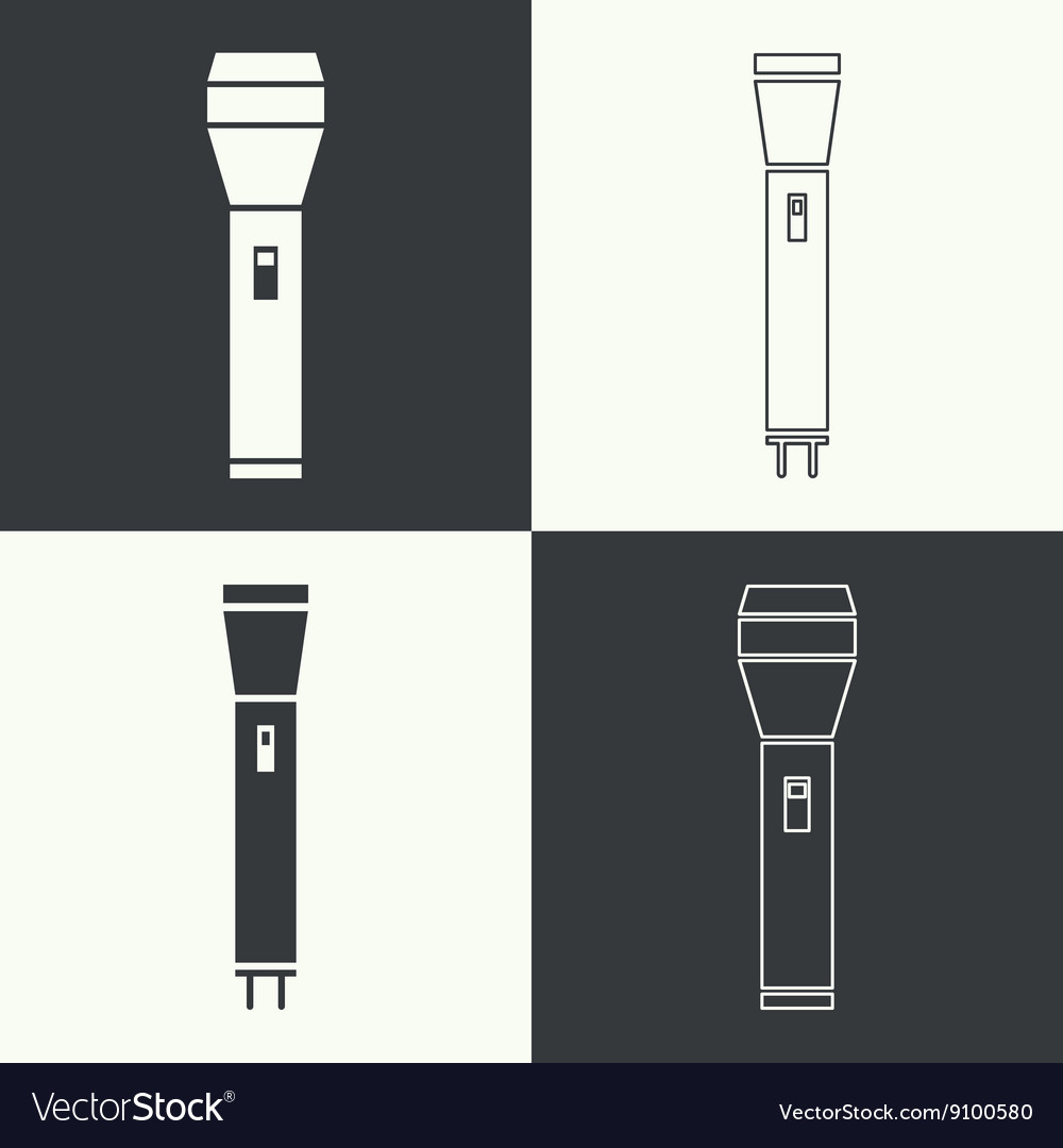 Set icons hand lamp vector