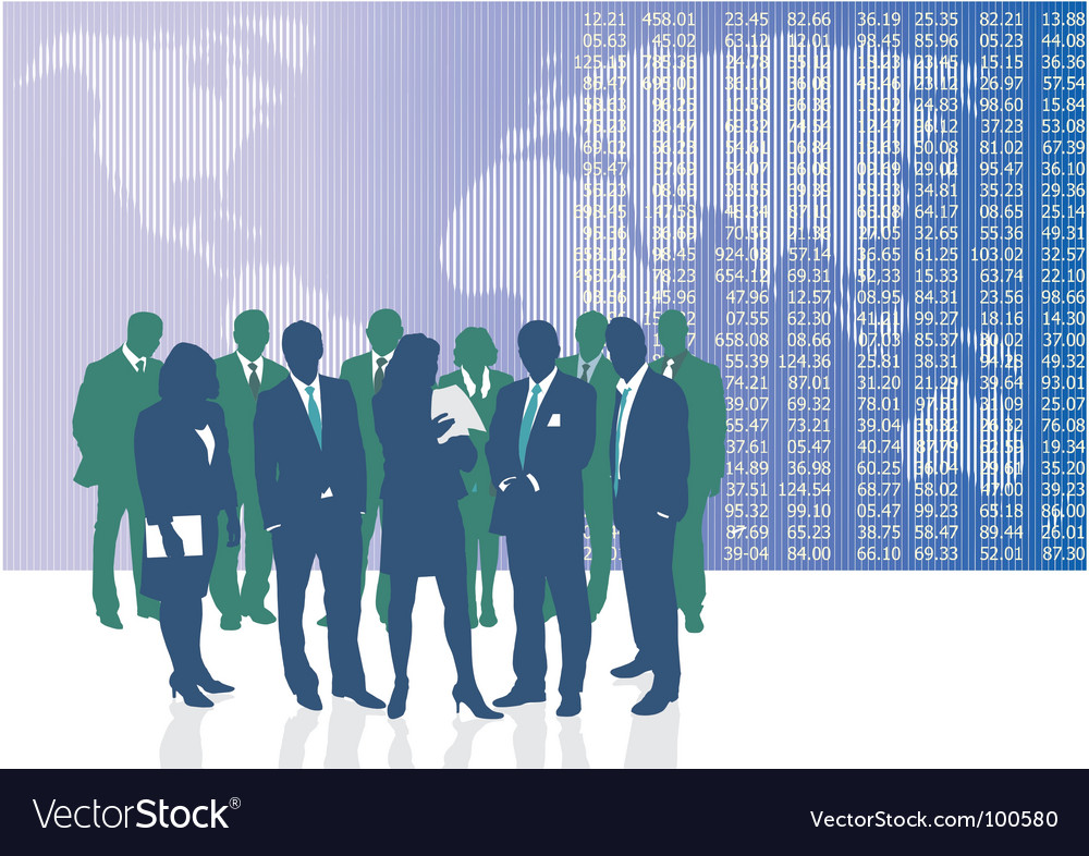 World business people vector