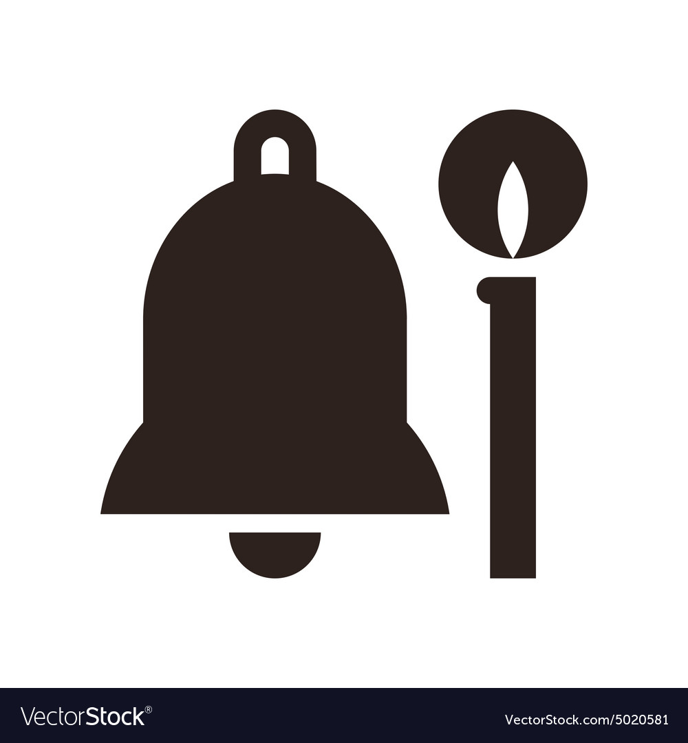 Bell and candle vector