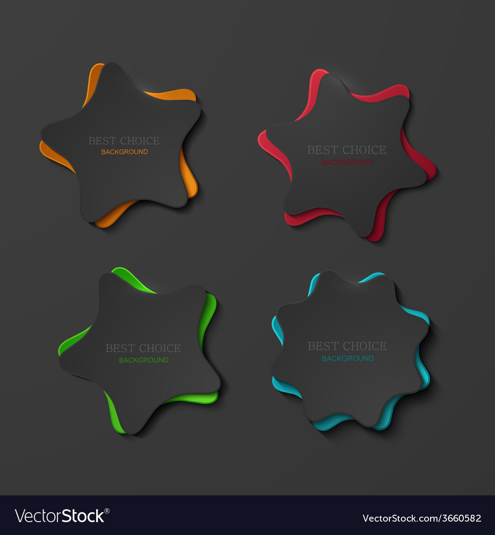 Modern colorful stars design template vector