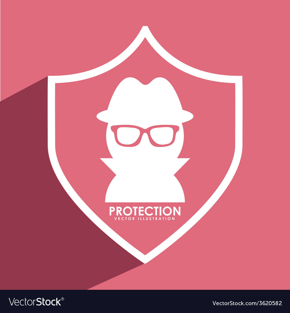 Spy shield vector