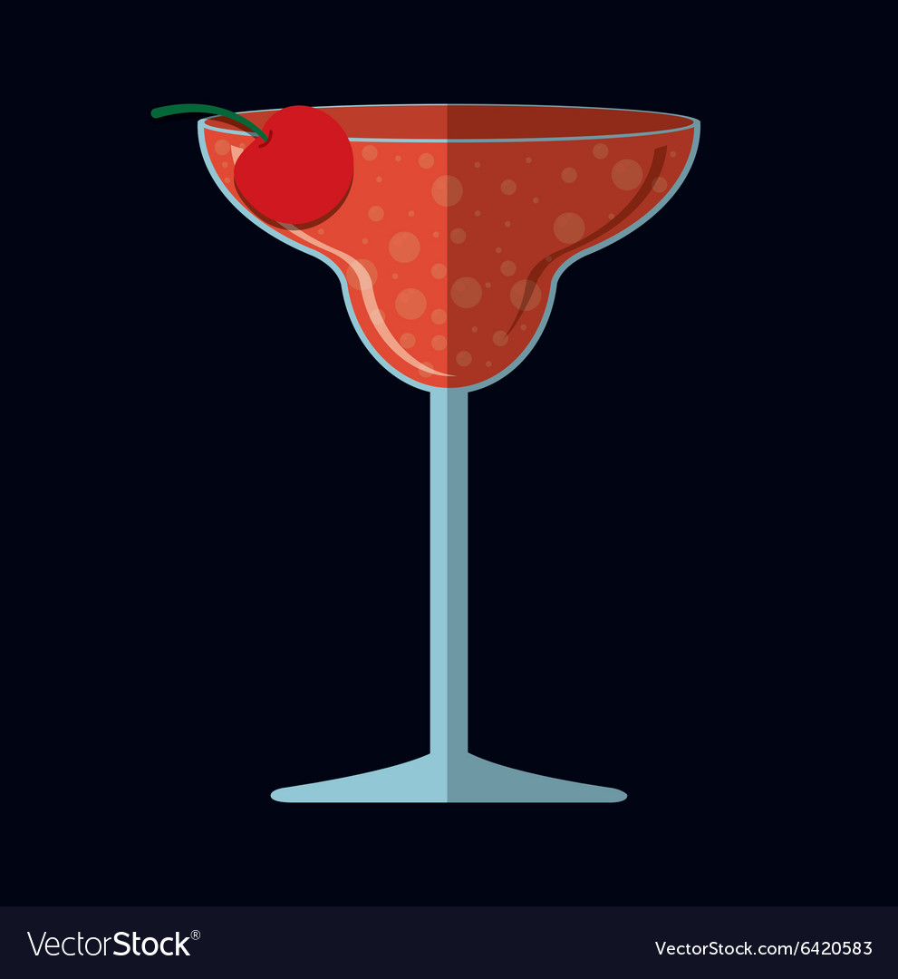 Cocktails cup glass design vector